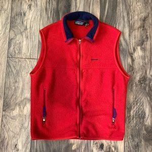 Patagonia Synchilla medium vest Fleece Red vintage